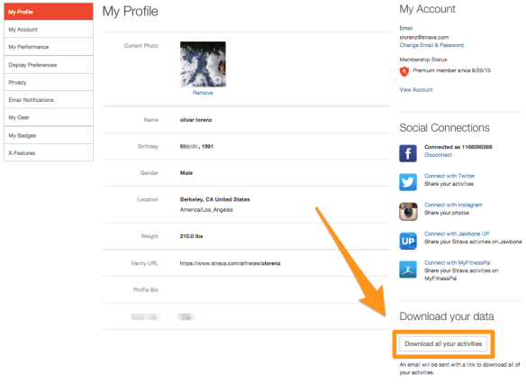 Ve a Configuración y busca el botón de descarga de toda tu información